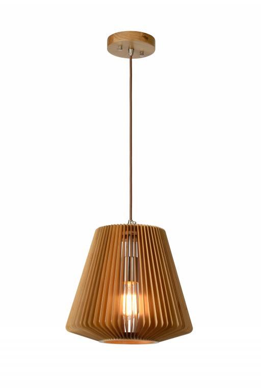 závěsné svítidlo - lustr Lucide Bodo L_01401/32/72 1x60W E27 - přírodní dřevo