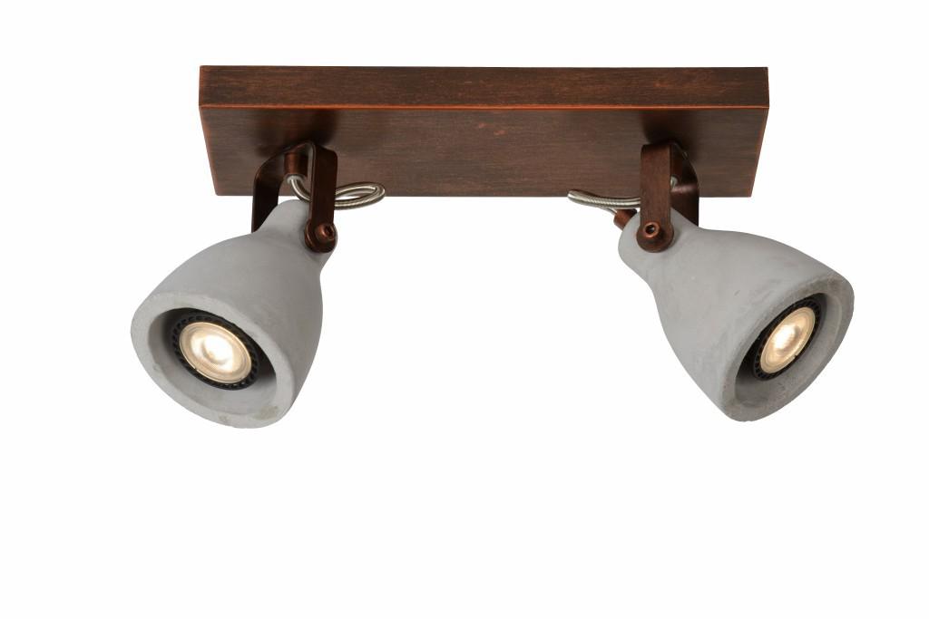 LED stropní svítidlo bodové svítidlo Lucide CONCRI-LED 05910/10/17 2x5W GU10