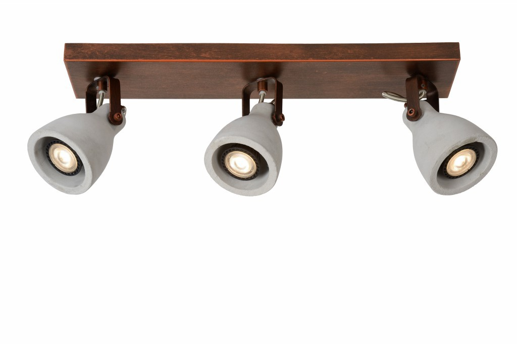 LED stropní svítidlo bodové svítidlo Lucide CONCRI-LED 05910/15/17 3x5W GU10