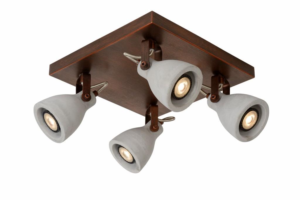 LED stropní svítidlo bodové svítidlo Lucide CONCRI-LED 05910/19/17 4x5W GU10