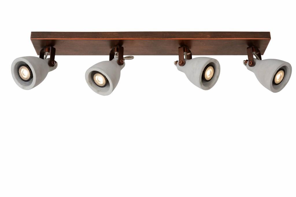 LED stropní svítidlo bodové svítidlo Lucide CONCRI-LED 05910/20/17 4x5W GU10