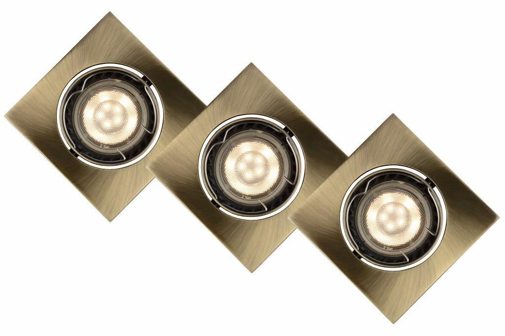 LED zápustné stropní svítidlo bodové Lucide FOCUS 11002/15/03 3x5W GU10