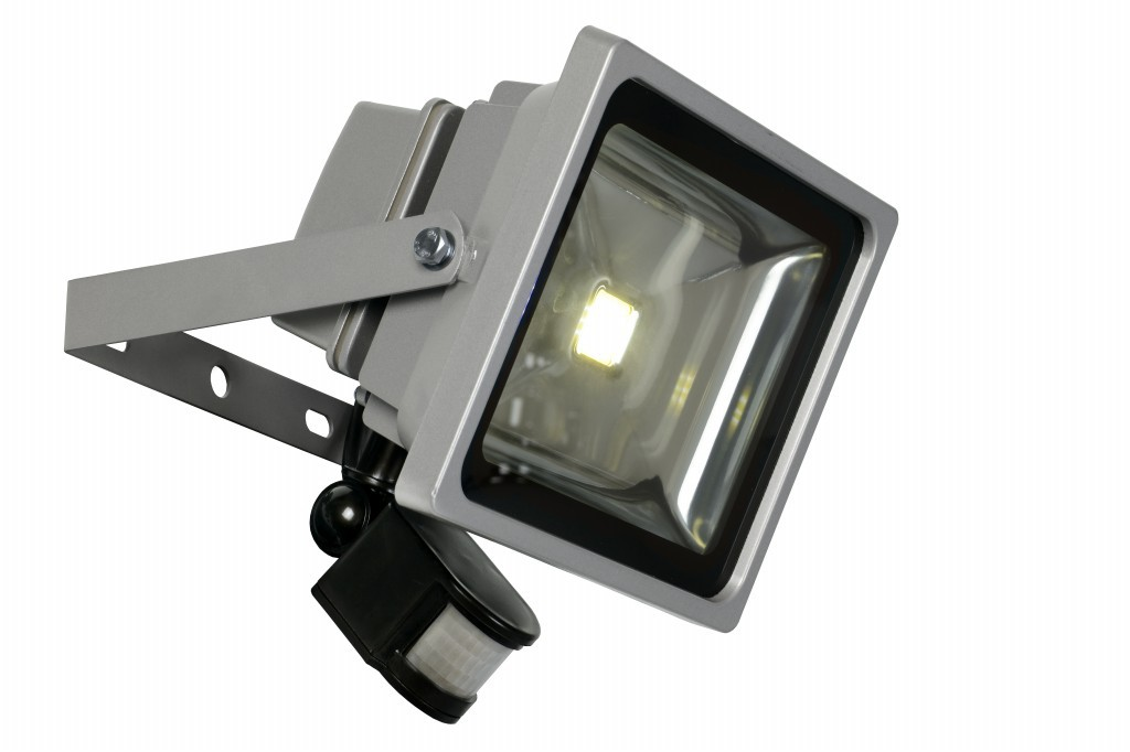 LED venkovní reflektor Lucide Flood L_14801/30/36 1x30W LED - moderní reflektor s čidlem
