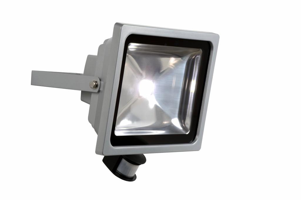 LED venkovní reflektor Lucide Flood L_14801/50/36 1x50W LED - moderní reflektor s čidlem
