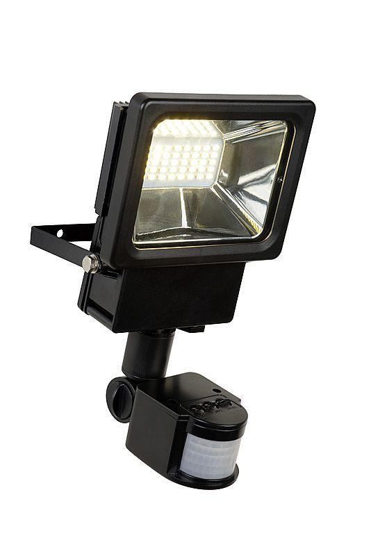 LED venkovní nástěnný reflektor Lucide Projectors L_14888/20/30 1x20W LED - odolný reflektor s pohybovým senzorem