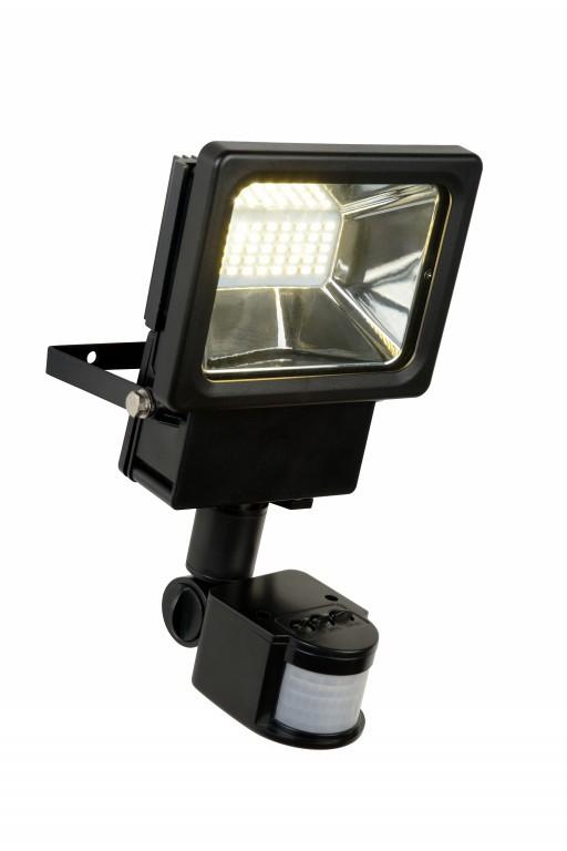 LED venkovní nástěnný reflektor Lucide Projectors 1x30W LED - odolný reflektor s pohybovým senzorem