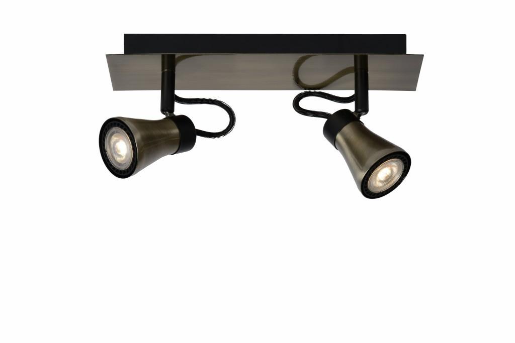 LED stropní bodové svítidlo Lucide Bolo L_17992/10/03 2x5W GU10 - serie stmívatelných bodovek