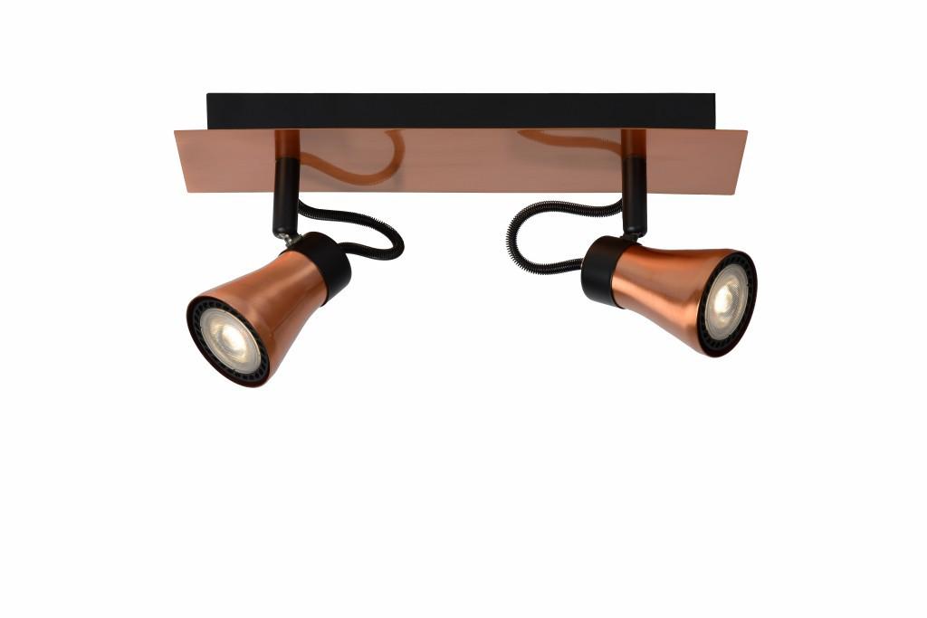 LED stropní bodové svítidlo Lucide Bolo L_17992/10/17 2x5W GU10 - serie stmívatelných bodovek