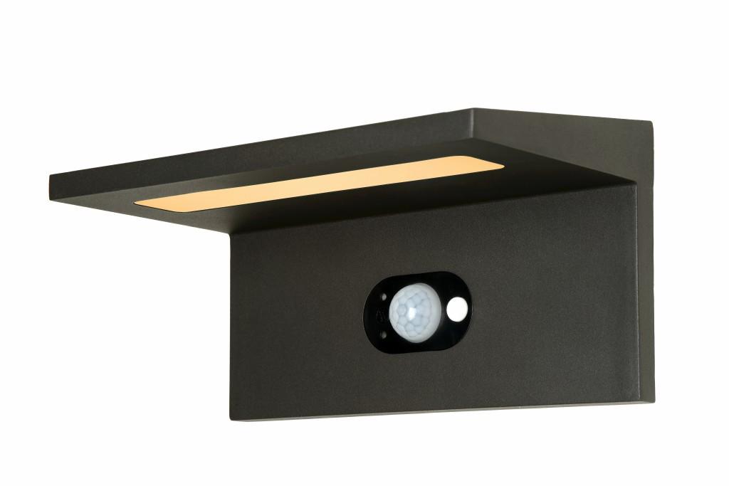LED venkovní nástěnné svítidlo Ti-Solar L_28860/02/30 1x3W LED - vybaveno snímačem pohybu a snímačem den / noc