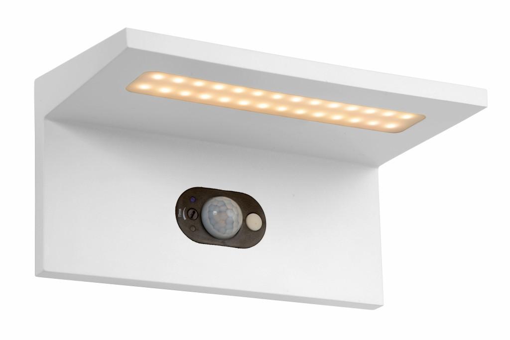 LED venkovní nástěnné svítidlo Ti-Solar L_28860/02/31 1x3W LED - vybaveno snímačem pohybu a snímačem den / noc