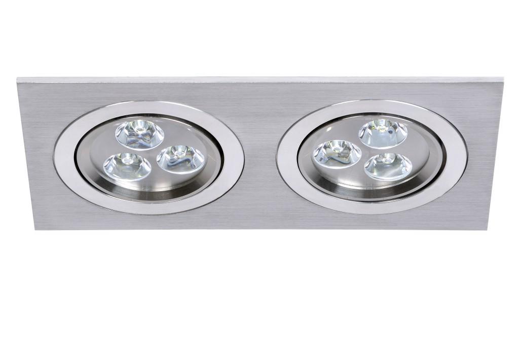 LED zápustné svítidlo bodové Lucide Prof L_28903/26/12 6x1W LED - stmívací bodovka