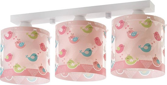Dalber D60293 dětské stropní svítidlo Birds 3x60W E27 - motiv ptáček