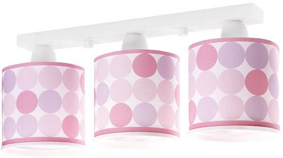 Dalber D62003S dětské stropní svítidlo Colors 3x60W E27 - růžové