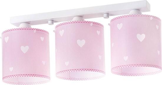 Dalber D62013S dětské stropní svítidlo Sweet Dreams 3x60W E27 - růžové