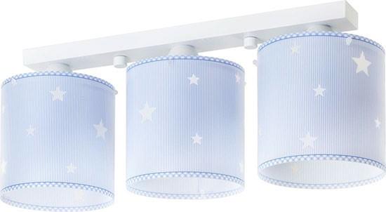 Dalber D62013T dětské stropní svítidlo Sweet dreams 3x60W E27 - modré