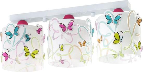 Dalber D62143 dětské stropní svítidlo Butterfly 3x60W E27 - motiv motýlek