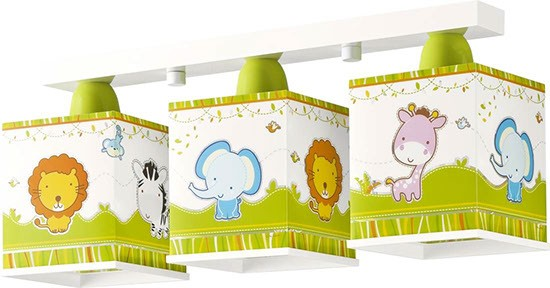 Dalber D63113 dětské stropní svítidlo Little Zoo 3x60W E27
