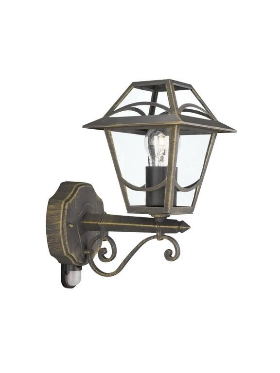 venkovní nástěnné svítidlo s pohybovým čidlem Philips Massive 15428/42/10 - zlatá patina