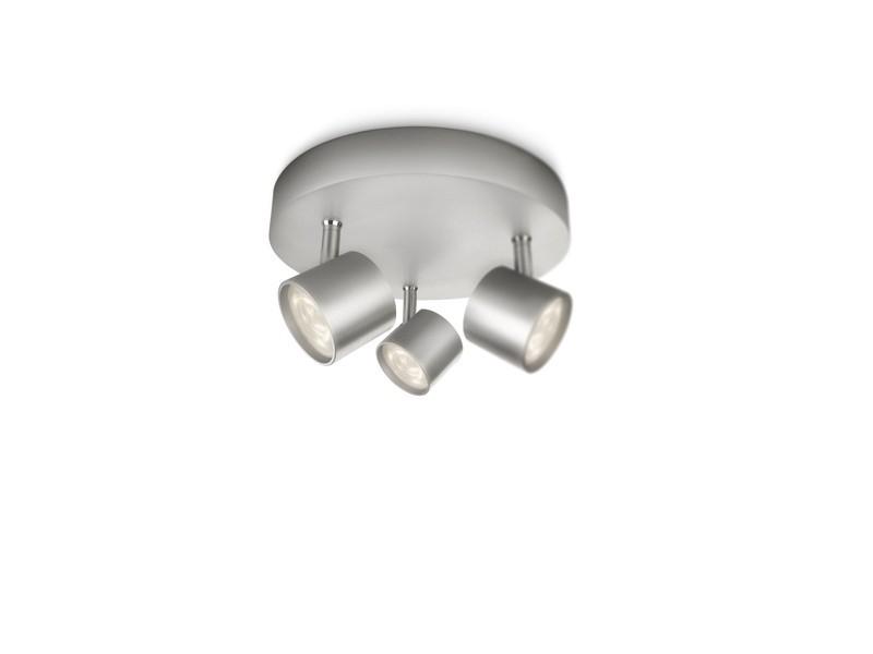 LED přisazené stropní svítidlo bodové Philips STAR 56243/48/16 - hliník