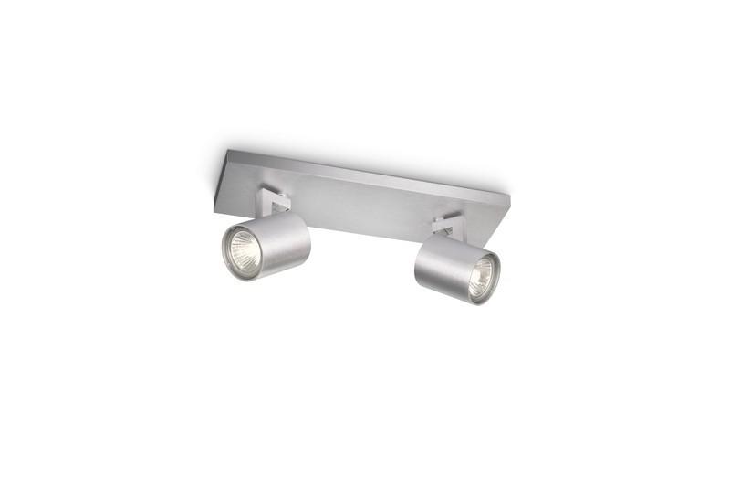 přisazené stropní svítidlo bodové Philips RUNNER 53092/48/16 - hliník