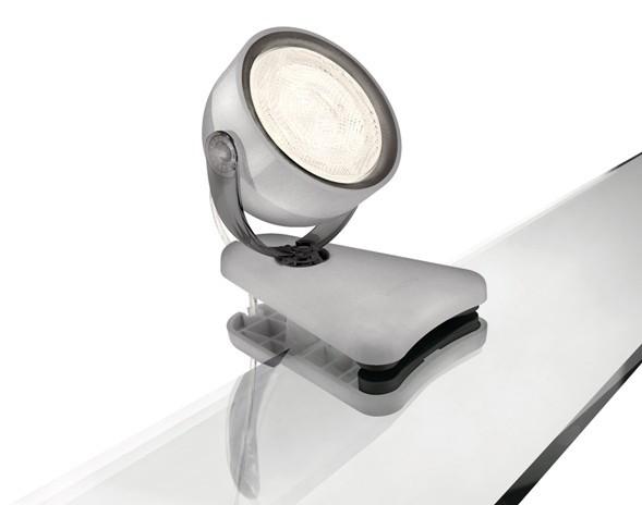 LED dětská stolní lampa Philips DYNA 53231/99/16 - šedá