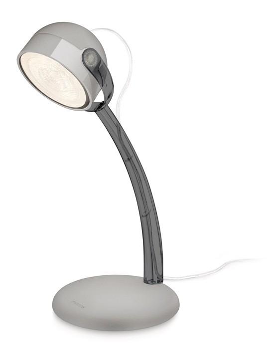 LED dětská stolní lampa Philips DYNA 67413/99/16 - šedá