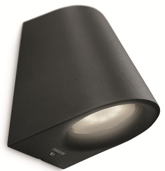 LED venkovní nástěnné svítidlo Philips VIRGA 17287/30/16 - černá