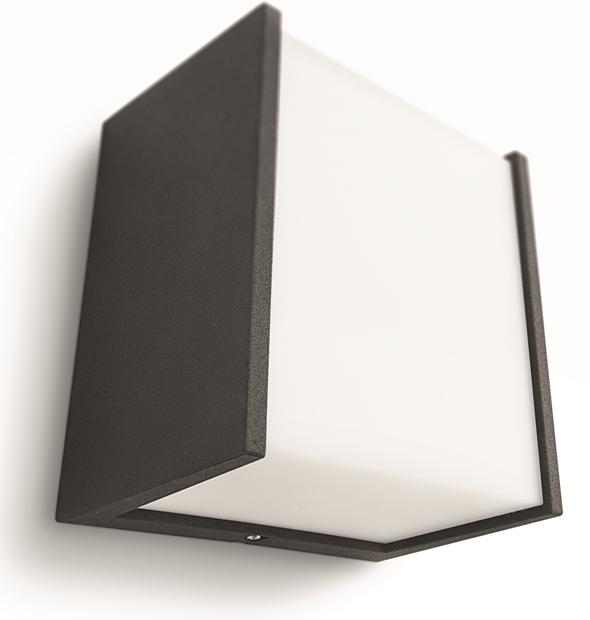 LED venkovní nástěnné svítidlo Philips MACAW 17302/30/16 - černá