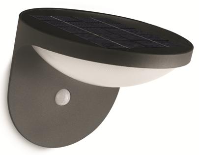 LED venkovní nástěnné svítidlo s pohybovým čidlem Philips DUSK 17808/93/16 - antracit černá