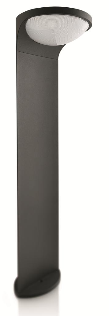 LED venkovní lampa Philips DUSK 17809/93/16 - antracit černá