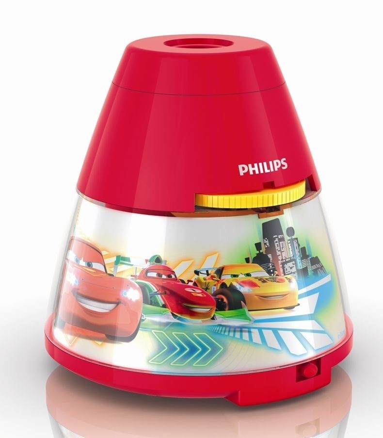 LED dětský projektor Philips CARS 71769/32/16 - červená