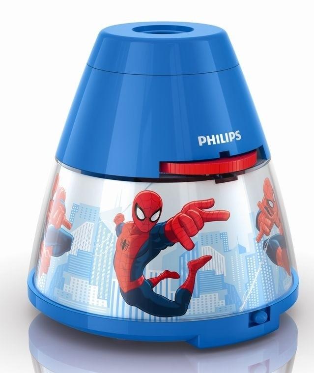 LED dětský projektor Philips SPIDER-MAN 71769/40/16 - modrá