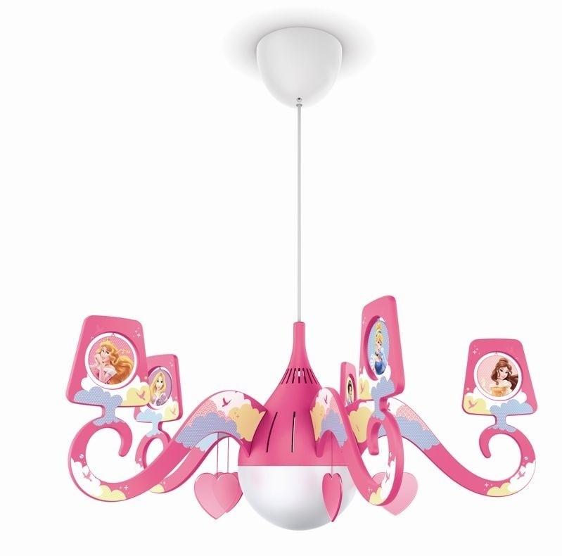 dětské závěsné stropní svítidlo - lustr Philips PRINCESS 71757/28/16 - růžová