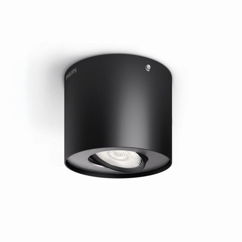 LED přisazené stropní svítidlo bodové Philips PHASE 53300/30/16 - černá