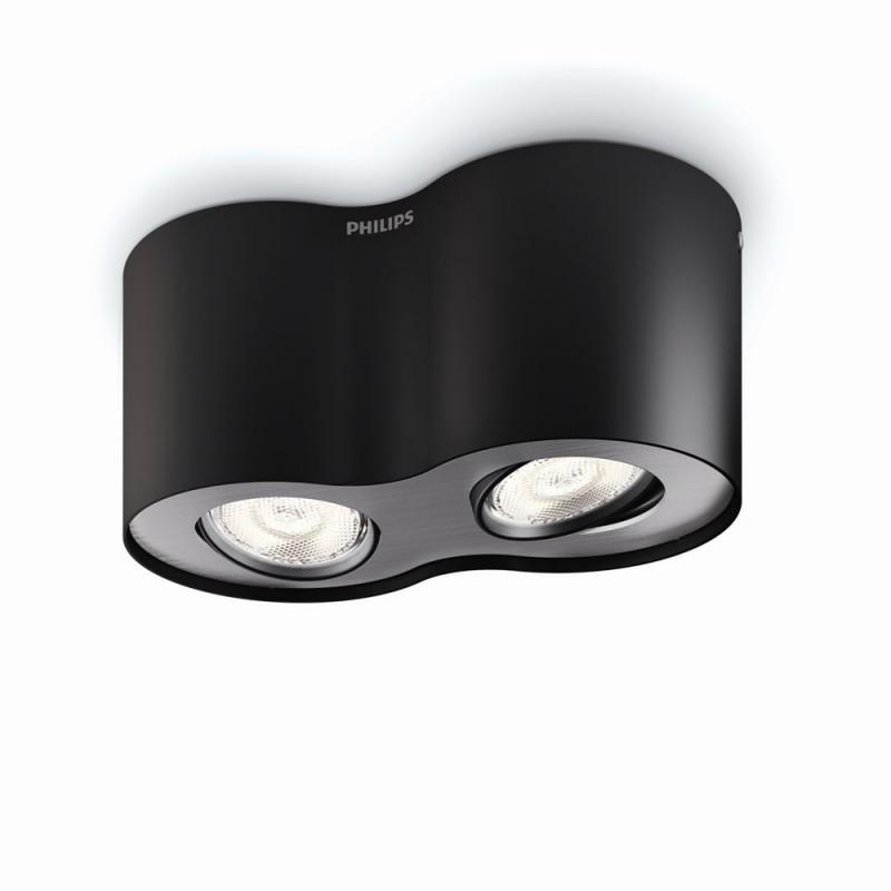 LED přisazené stropní svítidlo bodové Philips PHASE 53302/30/16 - černá