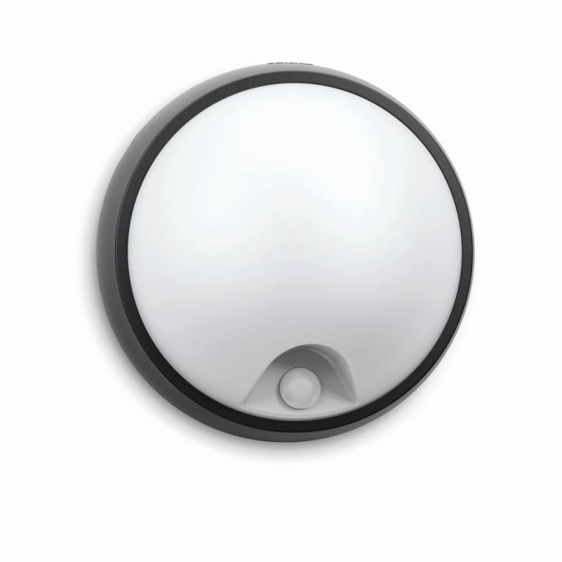LED venkovní nástěnné svítidlo s pohybovým čidlem Philips EAGLE 17318/30/16 - antracit