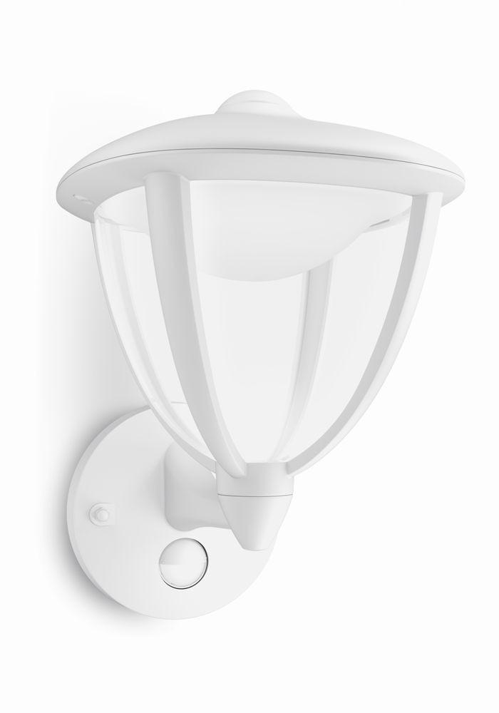 LED venkovní nástěnné svítidlo s pohybovým čidlem Philips ROBIN 15479/31/16 - bílá