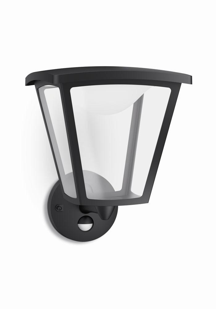 LED venkovní nástěnné svítidlo s pohybovým čidlem Philips COTTAGE 15488/30/16 - černá