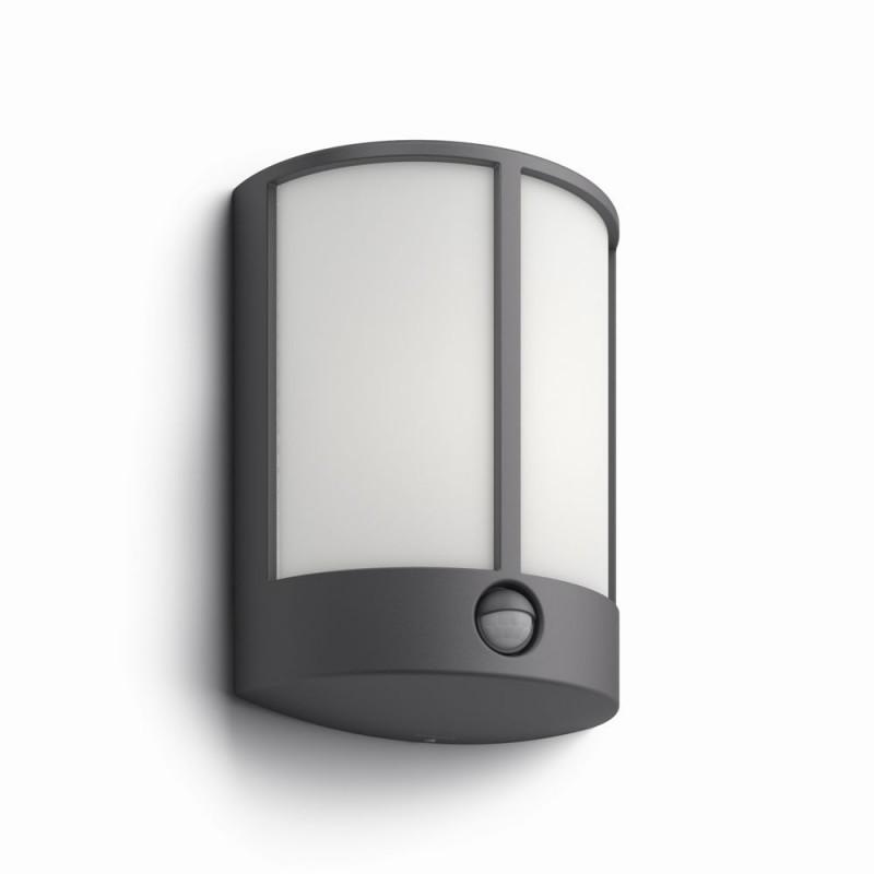 LED venkovní nástěnné svítidlo lampa s pohybovým čidlem Philips STOCK 16465/93/16 - antracit