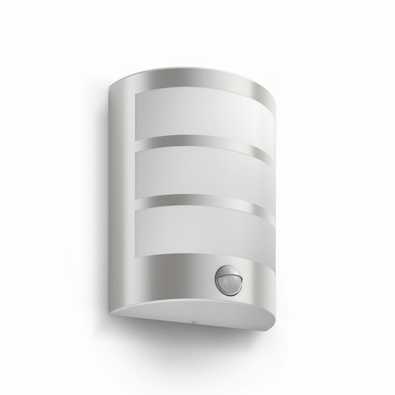 LED venkovní nástěnné svítidlo s pohybovým čidlem Philips PYTHON 17324/47/16 - nerez
