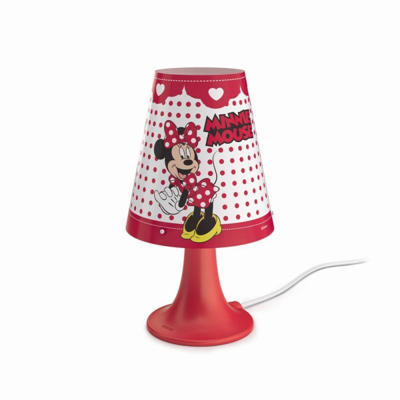 LED dětská stolní lampa Philips MINNIE MOUSE 71795/31/16 - červená