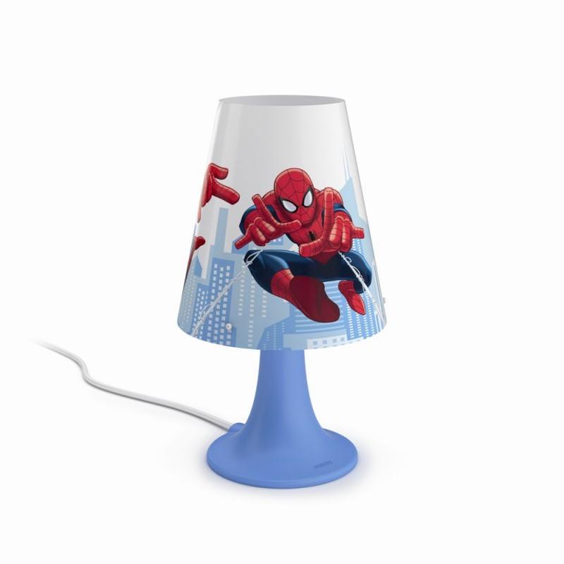 LED dětská stolní lampa Philips SPIDER-MAN 71795/40/16 - modrá/červená