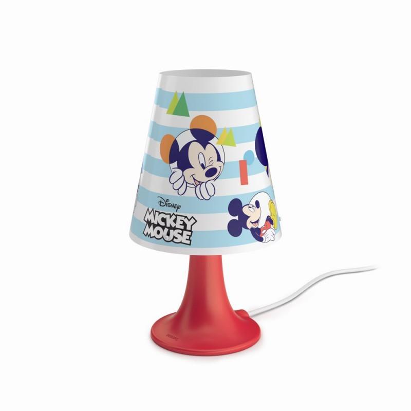 LED dětská stolní lampa Philips MICKEY MOUSE 71795/30/16 - červená