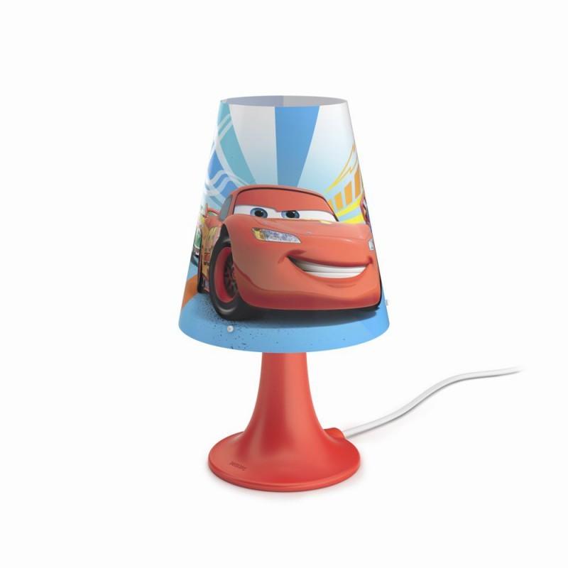 LED dětská stolní lampa Philips CARS 71795/32/16 - červená