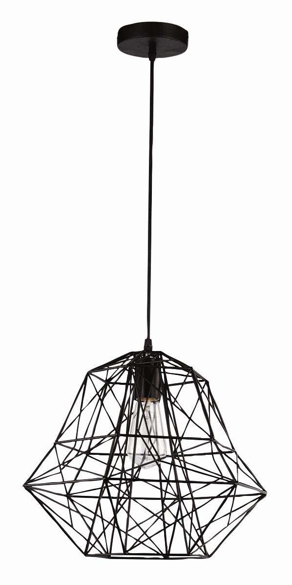 závěsné drátěné svítidlo Ledko LEDKO/00376 E27 1x40W - černá