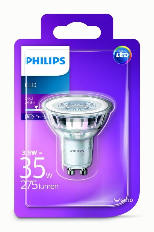 Philips Žárovka LED bodová, GU10, 3,5W, studená bílá