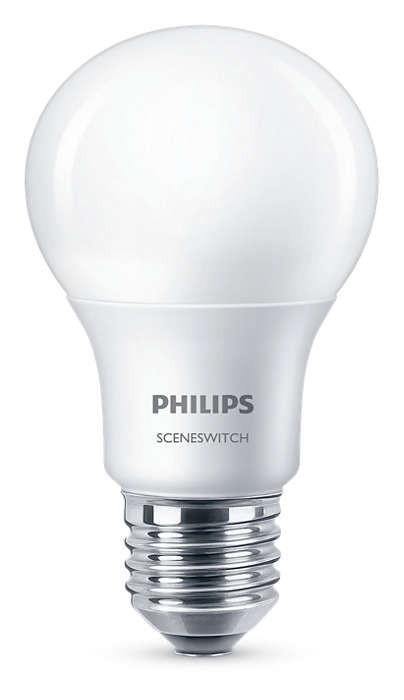LED žárovka Philips SceneSwitch E27 60/30/10W