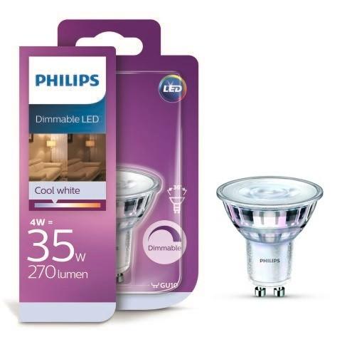 Philips LED 4W / 35W GU10 CW 36D DIM bodová