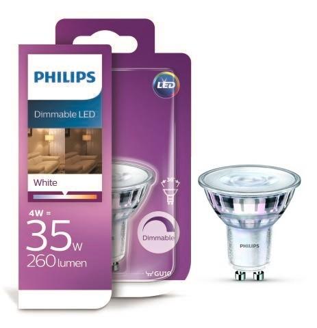 Philips LED 4W / 35W GU10 WH 36D D bodová