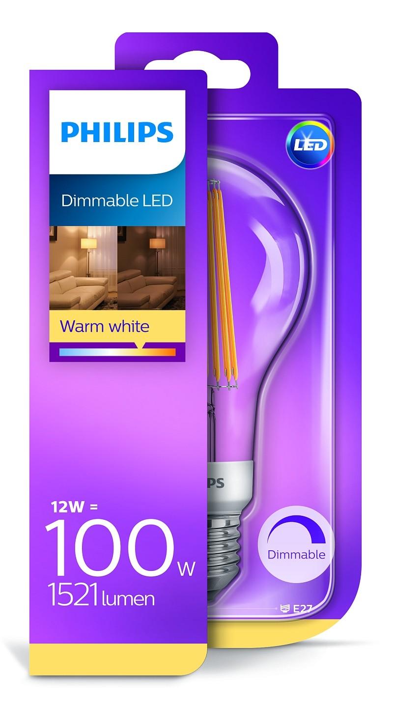 Philips 8718696806272 LED žárovka 1x12W   E27   2700K